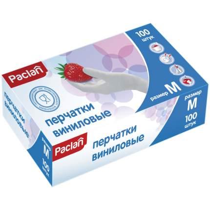 Перчатки виниловые размер М 100 шт