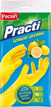 Перчатки резиновые с ароматом лимона размер L желтые 1 пара