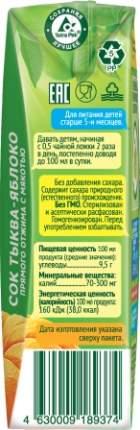 Нектар Сады Придонья Яблоко и тыква с мякотью с 5 мес 200 мл