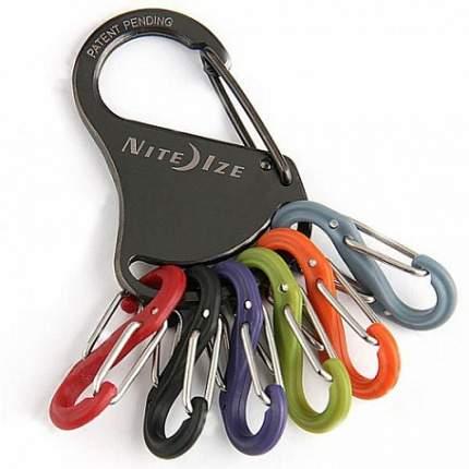 Брелок для ключей Nite Ize Nite Ize Keyrack Locker серый