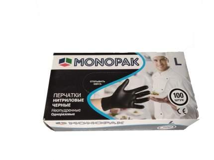 Перчатки нитриловые черные Monopak L 100 шт 50 пар