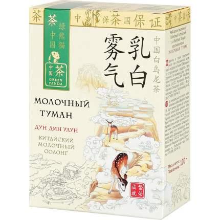 Чай Зеленая Панда молочный туман байховый китайский крупнолистовой с ароматом молока 100 г
