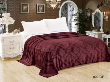 Плед kodey (180х200 см) бордового цвета из синтетической фланели