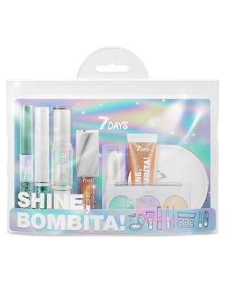 Подарочный набор для макияжа 7DAYS SHINE, BOMBITA! / №5 Rockstar, 8 средств