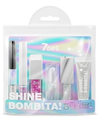 Подарочный набор для макияжа 7DAYS SHINE, BOMBITA! / №3 Hologram, 6 средств