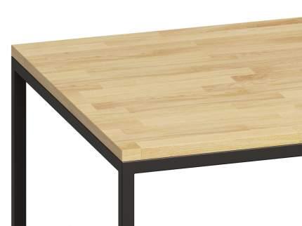 Консольный стол Loftyhome Бервин натуральный с белым основанием br040204