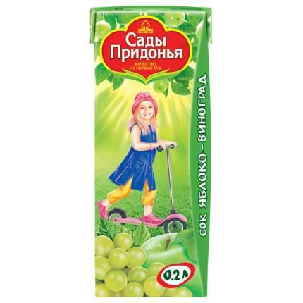 Сок Сады Придонья Яблоко и виноград с 6 мес 200 мл