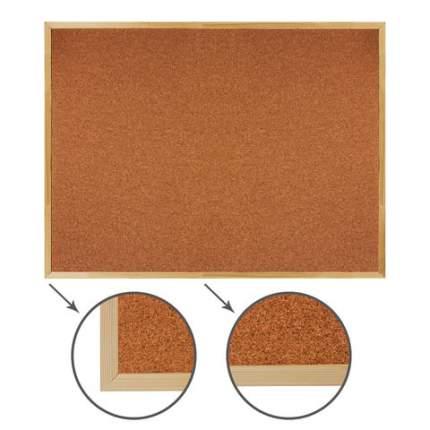 Доска пробковая для объявлений, 90х120 см, деревянная рамка