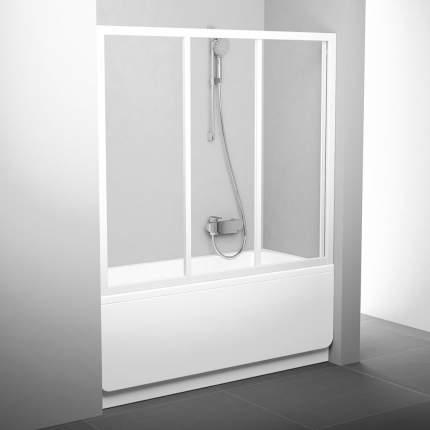 Шторка для ванны AVDP3-160 белая+транспарент