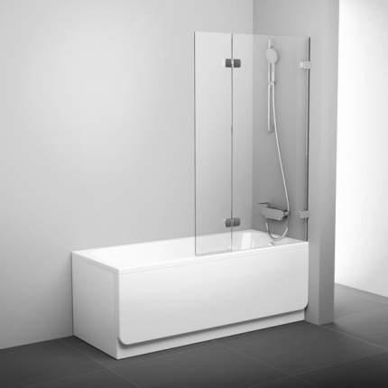 Шторка для ванны BVS2-100 хром+транспарент правая