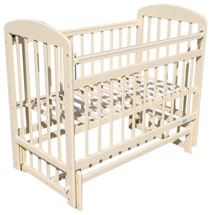 МОЙ МАЛЫШ Кровать детская 09 маятник поперечного качания с накладкой слоновая кость ММ91-4