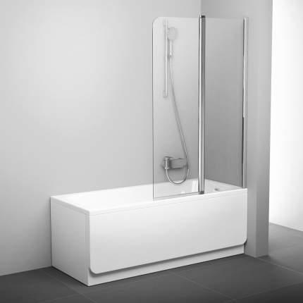 Шторка для ванны CVS2-100 P блестящий+транспарент