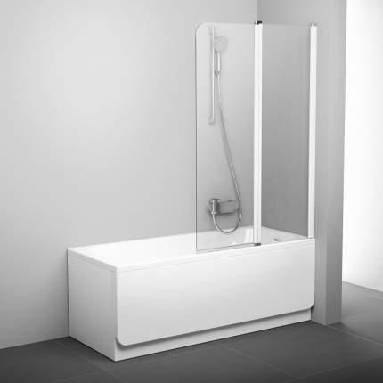 Шторка для ванны CVS2-100 P белый+транспарент