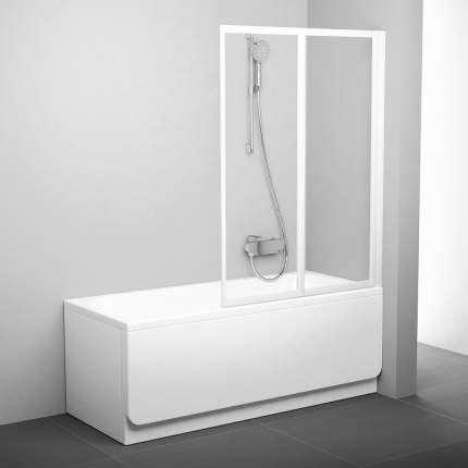 Шторка для ванны VS2 105 белая+транспарент