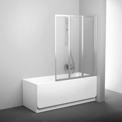 Шторка для ванны VS3 130 сатин+транспарент