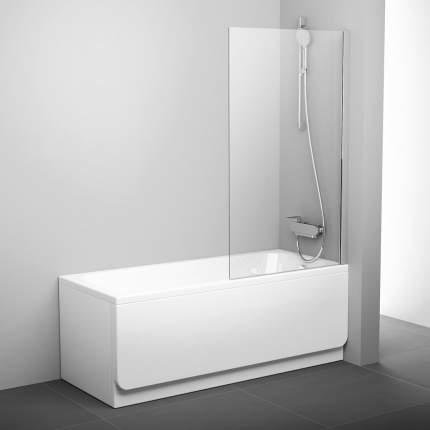 Шторка для ванны PVS1-80 блестящий+транспарент