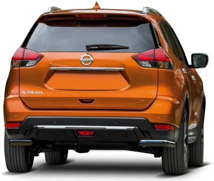 Защита заднего бампера d57 уголки Rival Nissan X-Trail T32 , 2 части, R.4125.007