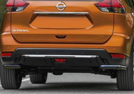Защита заднего бампера d42 уголки Rival Nissan X-Trail T32 ,  2 части, R.4125.006