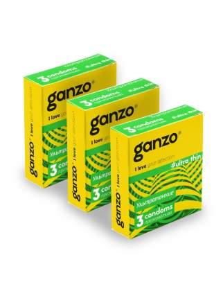 Презервативы Ganzo Ultra thin No.3 Ультра тонкие 3 шт.*3
