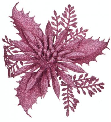 Изделие декоративное Lefard Пуансетия Цвет: Розовый (14 см)