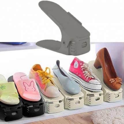 Двойная подставка для обуви с регулировкой Double Shoe Rack dark gray