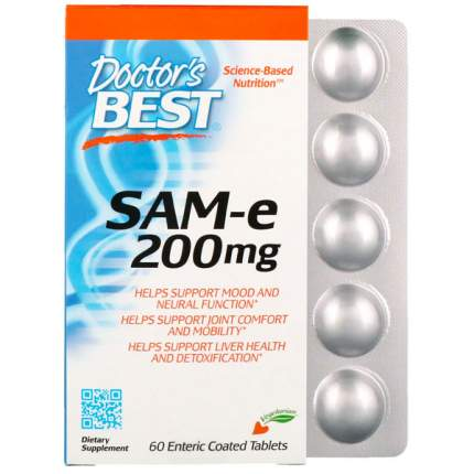 SAM-e адеметионин Doctor's Best 200 мг таблетки 60 шт.