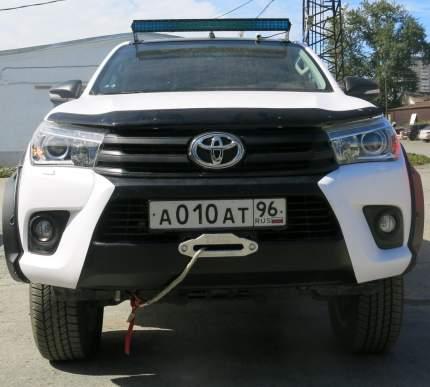 Кронштейн лебедки в штатный бампер Rival для Toyota Hilux VIII , с крепежем, 2L.5701.1