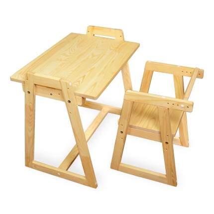 Детская растущая парта и стул Я САМ Лео Сосна