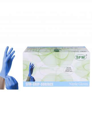 Перчатки медицинские нитриловые SFM Hospital Products GRIP SURFACE Nitril 50 пар