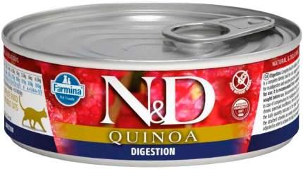 Консервы для кошек Farmina N&D Quinoa Digestion беззерновые с ягненком и киноа 12шт по 80г