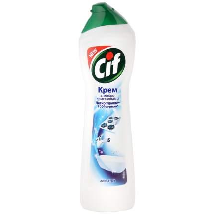 Чистящий крем Cif с микрогранулами active fresh 500 мл