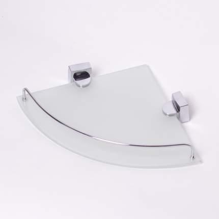 Полка угловая 36.5*28.5*6см (28.5*28.5*6см) стеклянная на стальном креплении