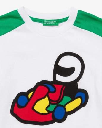 Футболка с принтом Benetton 20P_3096C14SA_101 Белый XS