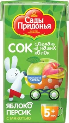 Сок Сады Придонья Яблоко и персик с мякотью с 5 мес 125 мл