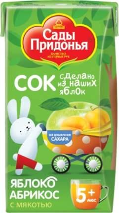 Сок Сады Придонья Яблоко и абрикос с мякотью с 5 мес 125 мл