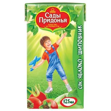 Сок Сады Придонья Яблоко и шиповник с 6 мес 125 мл