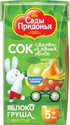 Сок Сады Придонья Яблоко и груша с мякотью с 5 мес 125 мл