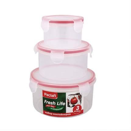 Набор контейнеров для пищевых продуктов 3 шт. круглые Paclan