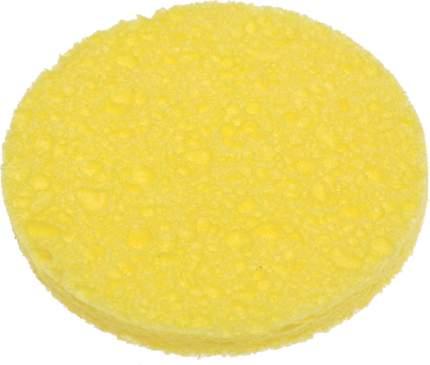 Спонж для снятия макияжа Dewal Beauty, 85 x 85 x 10 мм желтый 2 шт CE-8510