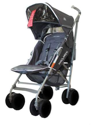 Чехлы для колес на коляски-трости black