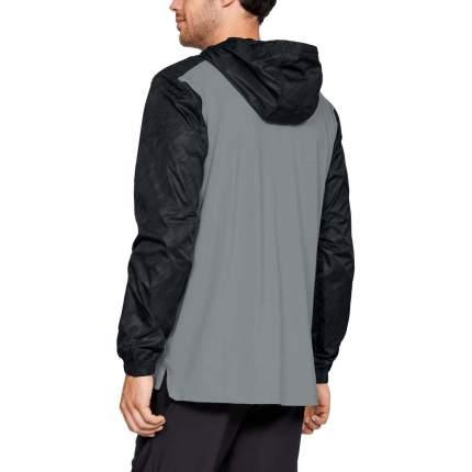 Куртка Under Armour Sportstyle Anorak Hooded Half Zip, 004 черная/серая, LG