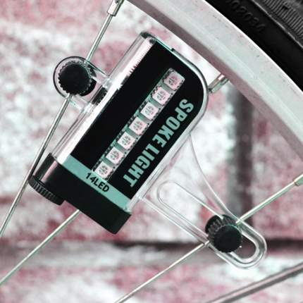 Динамичная LED подсветка для спиц велосипеда MoscowCycling LED-01