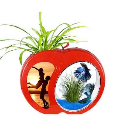 Мини-аквариум для рыб Sensen YB-01R, красный, 3 л