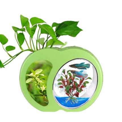 Мини-аквариум для рыб Sensen YB-01G, зеленый, 3 л