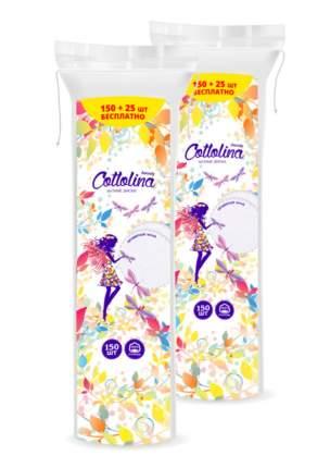 Ватные диски Cottolina 150+25 шт (в упаковке 2 штуки)