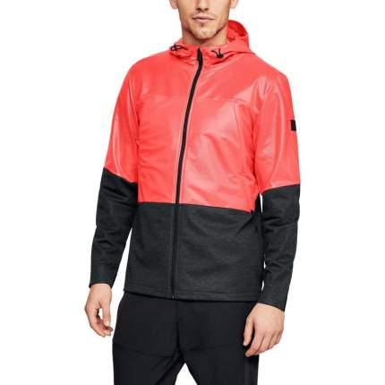 Куртка Under Armour Hybrid Windbreaker Hooded FZ, 986 красная/черная, SM