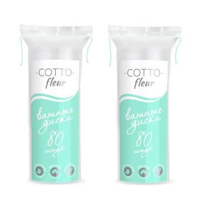 Ватные диски 80 шт Cotto Fleur (в упаковке 2 штуки)
