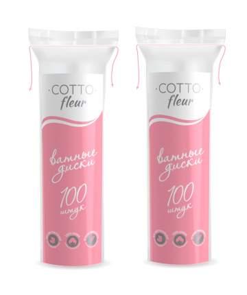 Ватные диски Cotto Fleur 100 шт (в упаковке 2 штуки)