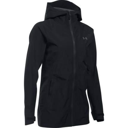 Куртка Under Armour Hurakan Gore-tex Paclite Outdoor Full Zip Hooded, 001 черная, XS