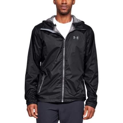 Куртка Under Armour Forefront Rain 10K Full Zip Hooded, 001 черная, SM
